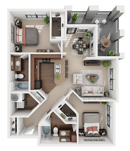 B1 - Two Bedroom / Two Bath*